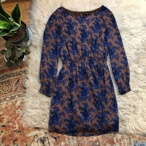 Madewell Broadway & Broome Silk Patterned Dress